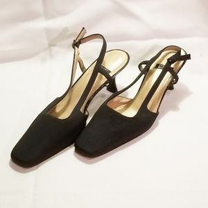 Stuart Weitzman Black Ankle Strap Heels